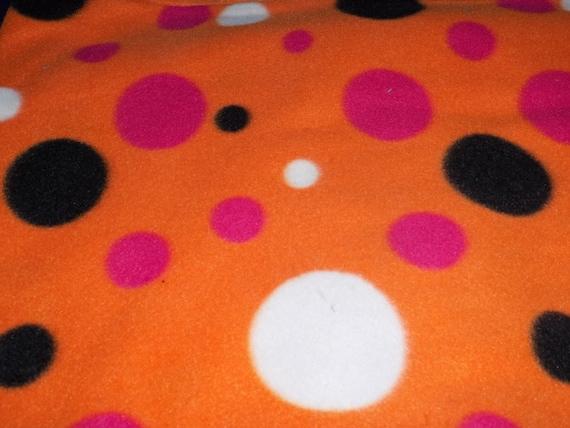 Dog Jammies Orange with polka dots fleece