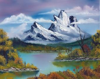 "Oil Painting Landscape - Autumn Mountain - 16""x20"""