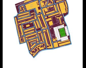 West Ham United - map art