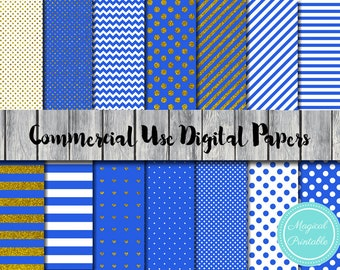 Royal Blue Digital Papers, Prince Digital Papers, Instant Download, Commercial Use, Scrapbook Digital Papers, Digital Background, DP06