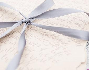 Wedding Vow Calligraphy - custom calligraphy, modern calligraphy, wedding vows, lyric calligraphy, quote calligraphy