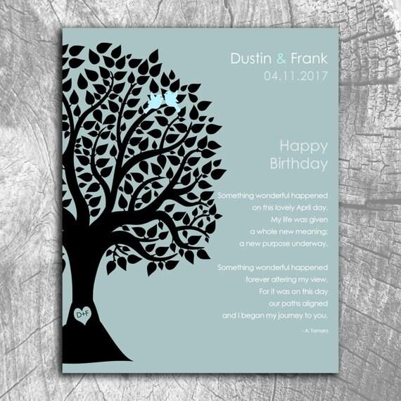 April Birthday Love Poem Personalized Happy Birthday Gift For