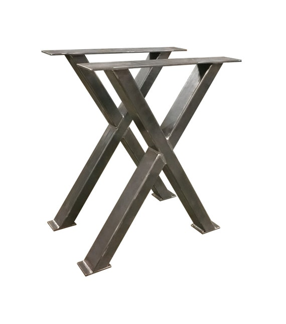 metal x table legs industrial steel base office dining. Black Bedroom Furniture Sets. Home Design Ideas