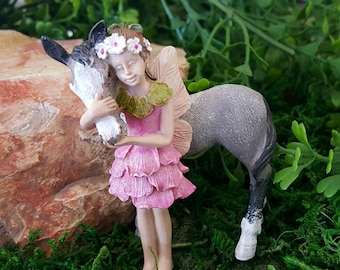 Miniature Fairy Penny with her Pony