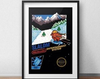 Slalom Original NES Box print