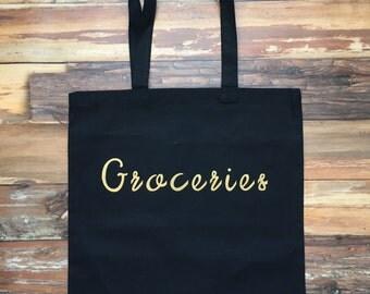 Groceries Canvas Tote Bag