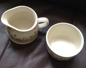 "Marks & Spencer ""Harvest"" Milk Jug and Sugar Bowl"