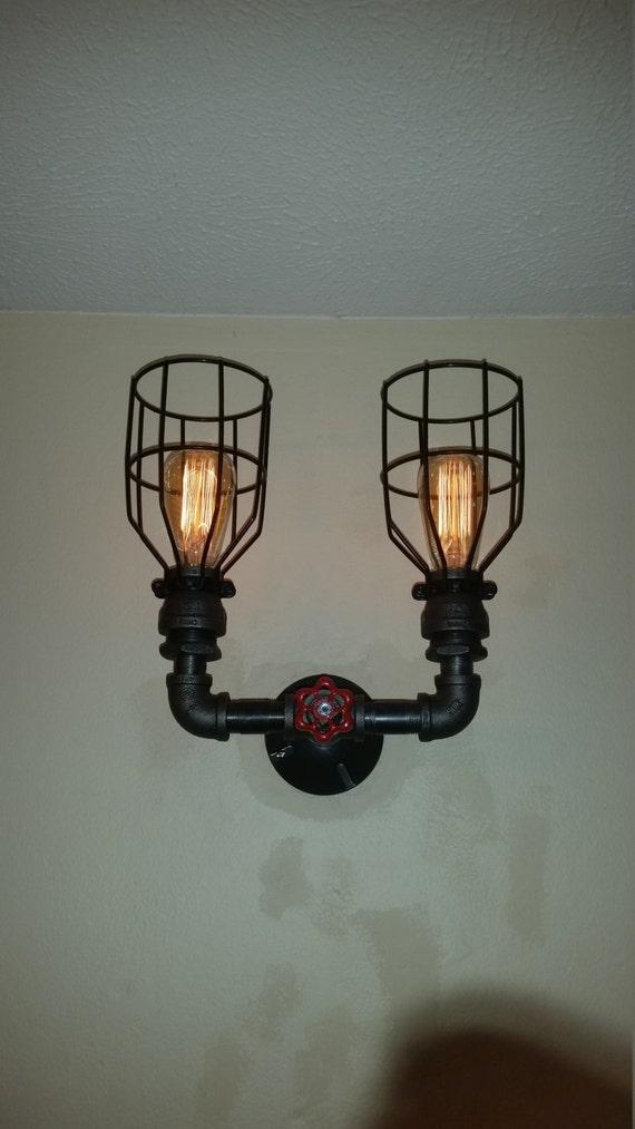 Double Sconce Wall Light Steampunk Light Vanity Light