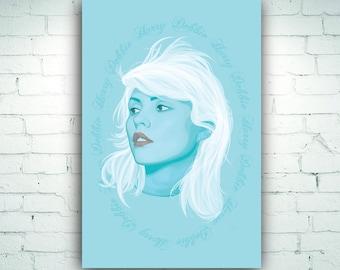 Debbie Harry Blondie Illustration Art Print on Canvas