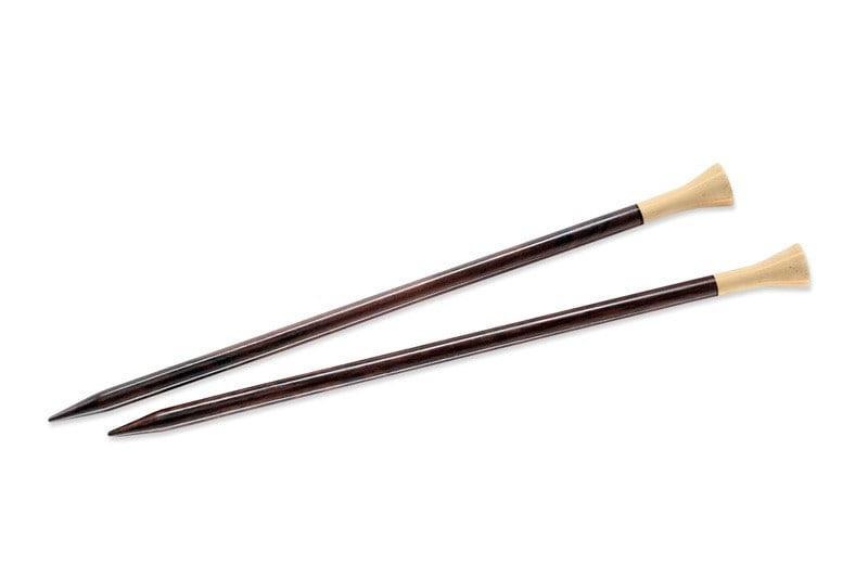 Ebony Needles Lantern Moon 14 Quot Straight Ebony Needle Size