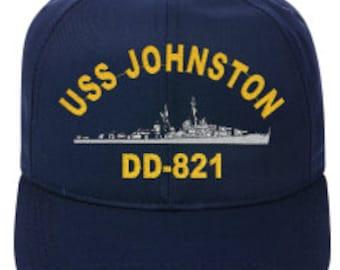 USS JOHNSTON DD-821   Ball Cap   Ne