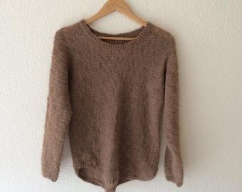 Vintage wool blend open weave sweater