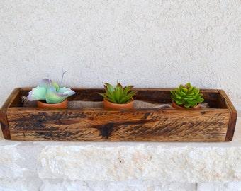 Reclaimed Oak Planter Box