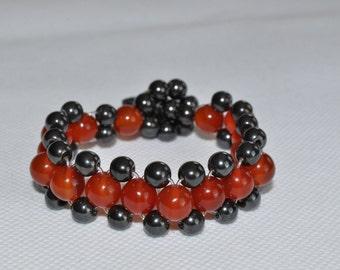 Carnelian and Hematite bracelet