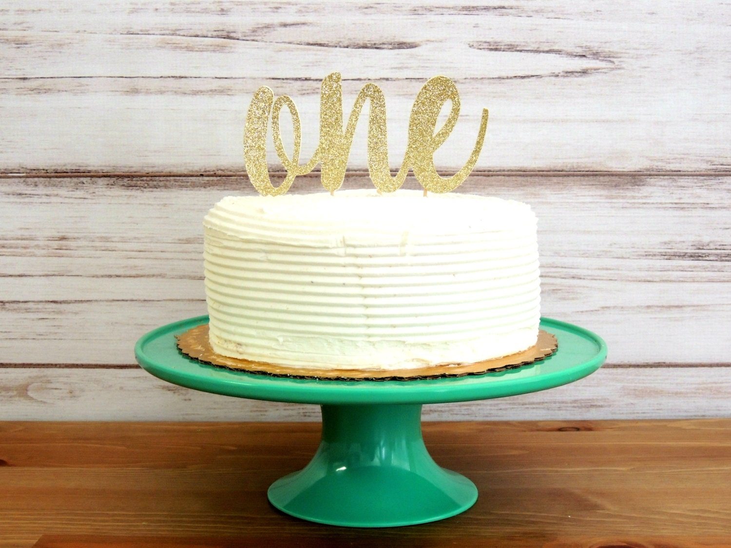 First Birthday Cake Topper One Cake Topper Gold Cake Topper
