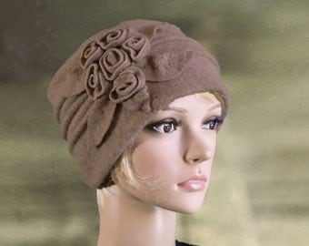 Womens felt hat, Ladies wool hats, Felted wool hats, Womens winter hat, Felted wool beanie,  Wool hat for lady, Felt hat for women