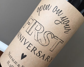 Anniversary Wine Labels, Wedding Wine Labels, Engagement Gift, Wedding Gift, Shower Gift, Guest book WINE LABELS