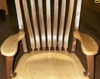 Walnut & Maple Heirloom Rocking Chair