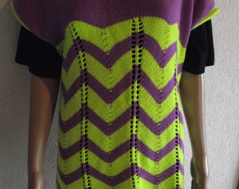Tunic, size S, purple neonyellow, Art.Nr.  169 KM