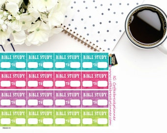 Planner Stickers|Bible Study Half Box Stickers|Bible Study Meeting Reminder Stickers|Bible Study Tracking Stickers| RB006-HV