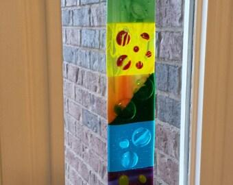 Handmade Fused Glass Garden Stake
