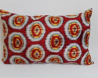 Ikat Pillow Case -  16'' x 25'' Decorative Pillows For Couch Sofa Pillows Lumbar Pillow Decorative Cushion Modern Pillow Cover