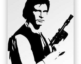 """Star Wars Han Solo """". Mirror hand engraved, sandblasted and coloured spray."""