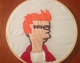 Fry (Futurama) Embroidery
