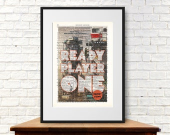 Ready Player One by Ernest Cline. Book Cover Art Print
