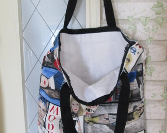 Fabric bag fashion zipper