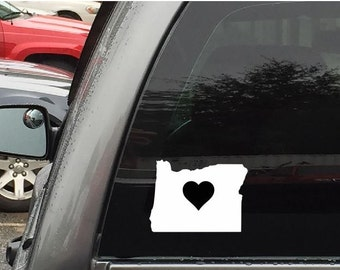 Oregon Car Decal Sticker Home Grown With Heart or Plain
