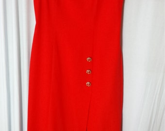 Red Dress, Sweetheart Neck Line, UK Size 14