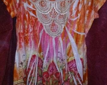 pretty hippie boho top