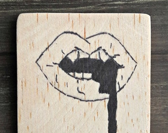 Vampire Fangs Painting