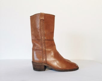 Vintage Western Leather Italian Boots
