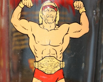 Awesome Hulk Hogan Hulkamania Mug - 1985 - Large Glass