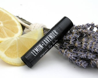 LOCAL listing for pick up only. Organic Lip Balm. Lemon and Lavender.