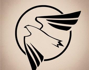 Patriotic Bird Vinyl Decal - Bird Decal - Laptop Sticker - Laptop Decal - Car Decal - Wall Decal - Wall Art - Vinyl Sticker - Bumper Sticker