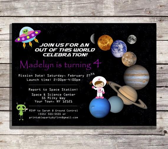 Solar System Birthday Party Printable by PrintablePartybyFinn
