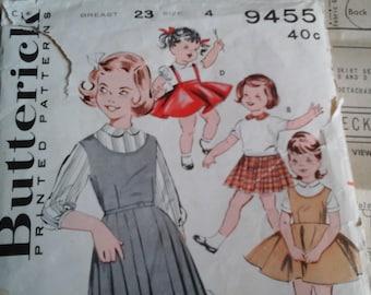 19 50's Girls Skirt and Jumper, Size 4 Butterick 9455 Pattern