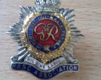 vintage enamelled button hole badge