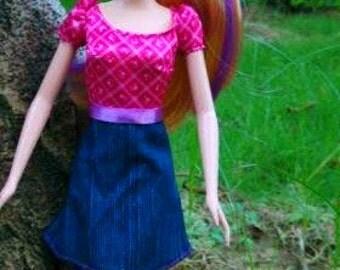 Modest Barbie Clothes, Modest Barbie Dress, Shoes, Modest Doll Clothes, Girls Birthday Gift, Barbie fashion, Modest Barbie, Barbie fur Coat