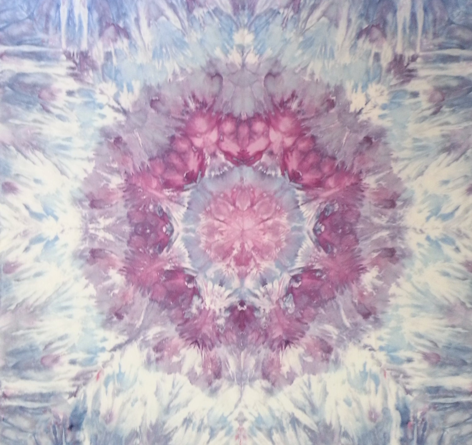 mandala tie dye tapestry in purple blue and grey wall hanging. Black Bedroom Furniture Sets. Home Design Ideas