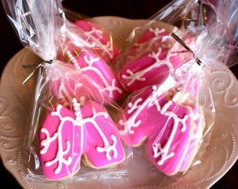 Lung Respiratory Medical Anatomy Physiology Sugar Design Cookies - 1 Dozen!