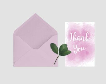 Watercolor Thank You Note