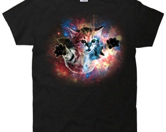 Funny Floating cat in space T-Shirt