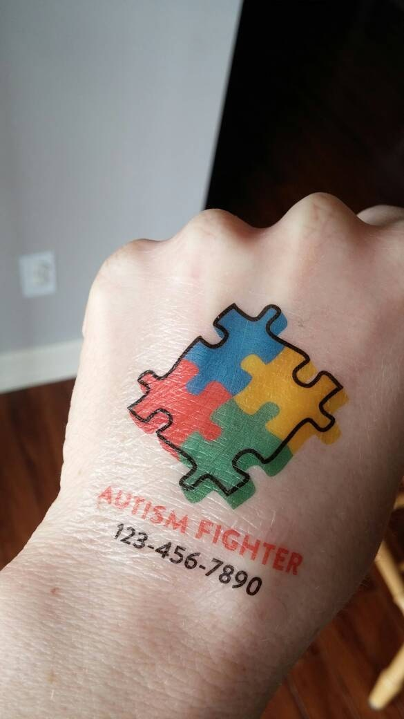 autism tattoo medical tattoo phone number tattoo emergency