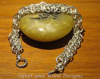 Sterling Silver Helm Weave Bracelet