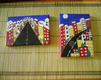 Beautiful acrylic small paintings Set/2