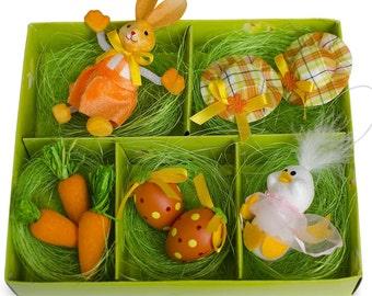 Set of 9 Easter Bunny, Hats, Eggs, Chick, Carrots DIY Easter Craft- SKU # TT-AZ61012-2
